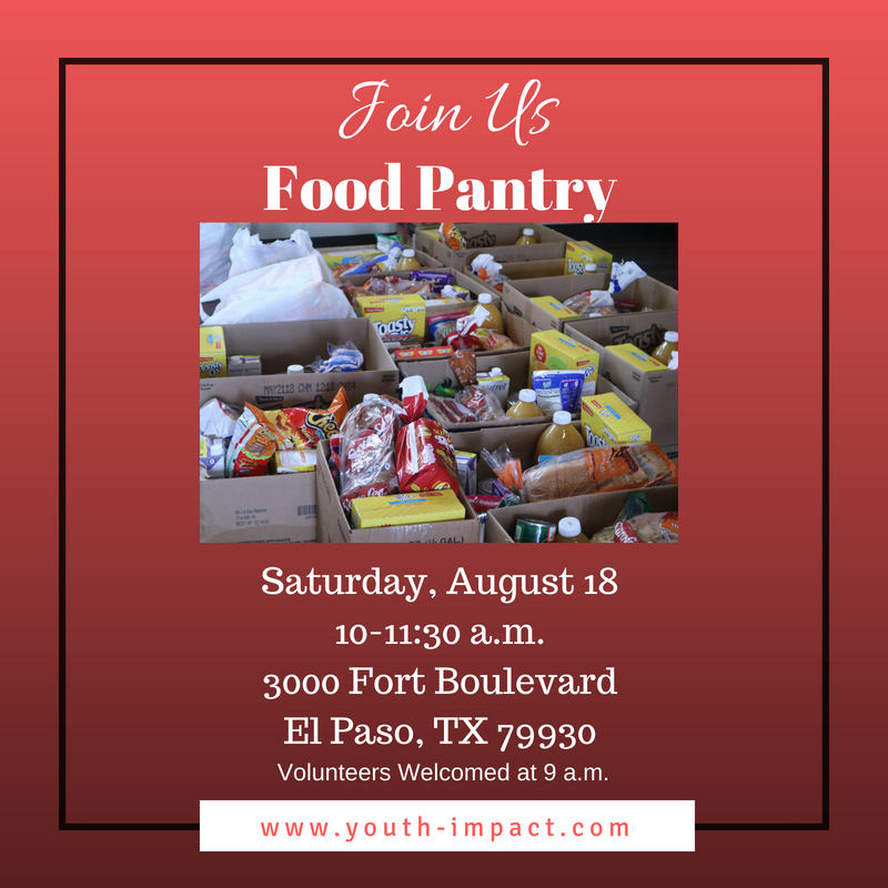 Food Bank: August's Monthly Food Pantry in El Paso