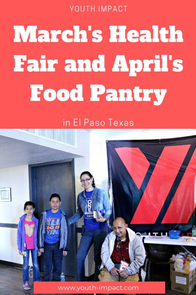 March's Health Fair and April's Food Pantry